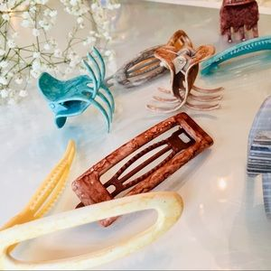 NWoT 💁♀️ Pastel Hair Barrettes + Claws Set of 12